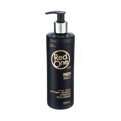 "RED ONE after shave cream cologne ""gold"" 400 ml"